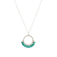 Cirque turquoise sterling silver pendant