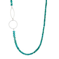 Cirque Turquoise beaded sterling silver necklace