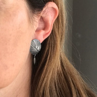 Eremophila silver stud earrings