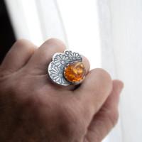 Flor Amber Cocktail Ring