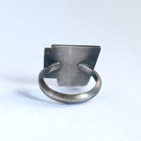Geo Black Onyx Cocktail ring