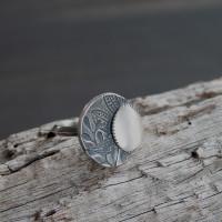 Luna moonstone Cocktail Ring