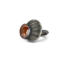 Banksia Fire Opal Cocktail Ring