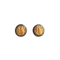 Grasses gold and silver stud earrings