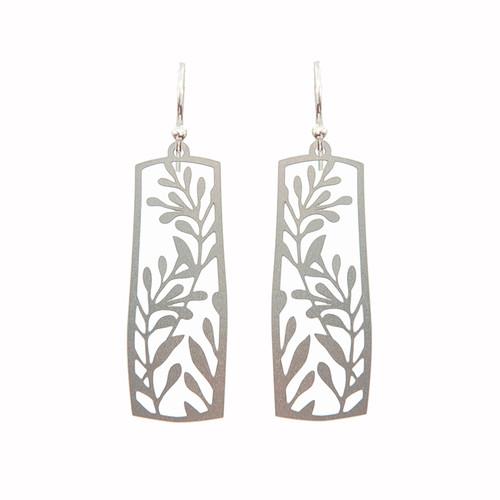 Framed vine earrings