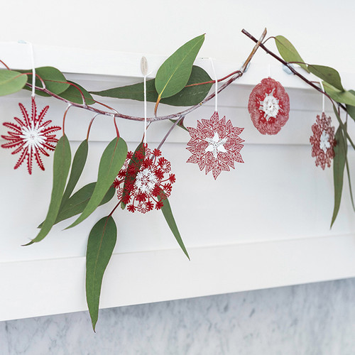 A Christmas collection of Australian Native Flora Snowflake Decorations