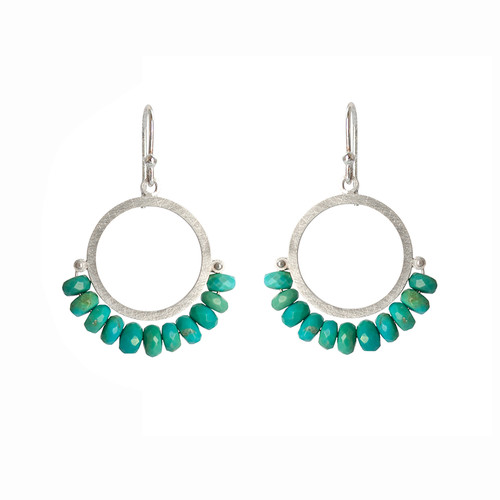 Cirque turquoise sterling silver earrings