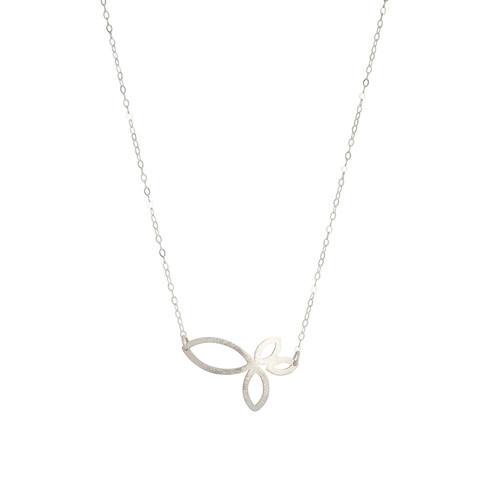 Four petal sterling silver pendant