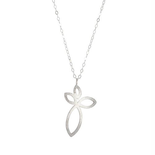 Four petal sterling silverdrop pendant