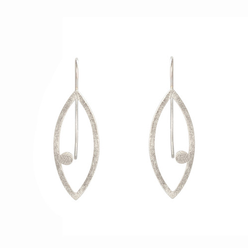 Petal dot sterling silver earrings