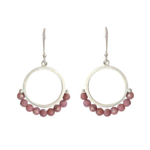 Cirque Rhodochrosite sterling silver earrings