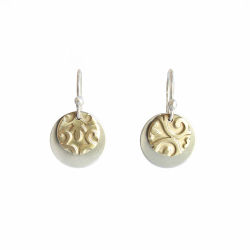 Unite earrings - Sterling silver and brass