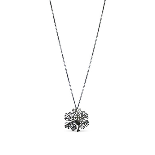 Black Alyogyne oxidised sterling silver pendant