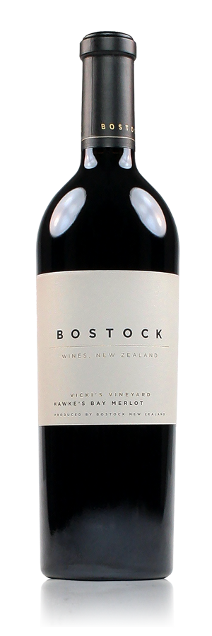Bostock Wines Vicki's Vineyard Merlot Hawke's Bay New Zealand