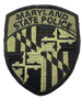 MARYLAND STATE POLICE PATCH SUBDUED