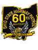 OHIO STATE HIGHWAY PATROL 60TH LASER CUT 1993 PATCH GOLD