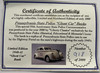 """PENNSYLVANIA STATE POLICE LIM. EDIT. 1940 """"GHOST CAR"""" COIN BANK"""