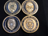 """Best way ever to add or start your """"4 PACK OF GEORGIA  POLICE OF CHALLENGE COINS RARE """"coin collection.  1.75 coins COMMAND SIZE  Always 4 different coins, AS SEEN IN PHOTOS  We pay attention to making happy customers."""