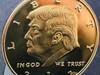 PRESIDENT TRUMP COIN GOLD TONE