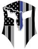 Florida Warrior Sticker Silver