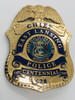 EAST LANSING MICHIGAN POLICE CHIEF CENTENNIAL BADGE 2007 OBSOLETE LOGO