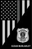 THIN LINE USA FLAG VERTICAL PLAQUE