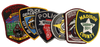 5 PACK OF PATCHES $20.00 POLICE SHERIFF PATCH KIT FREE SHIPPING!