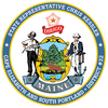 MAINE STATE SEAL WITH PERSONALIZATION