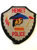HEMET  POLICE CA  PATCH