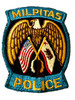 MILPITES  POLICE CA PATCH