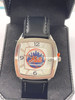 NEW YORK METS GAME TIME WATCH LEATHER BAND