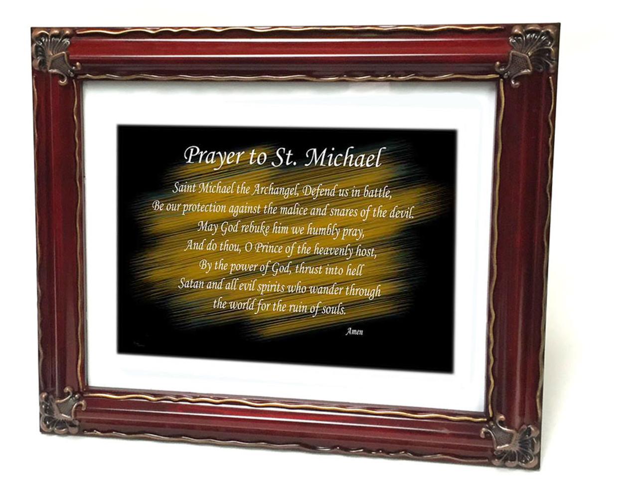 Prayer To Saint Michael 8x10 Framed Print