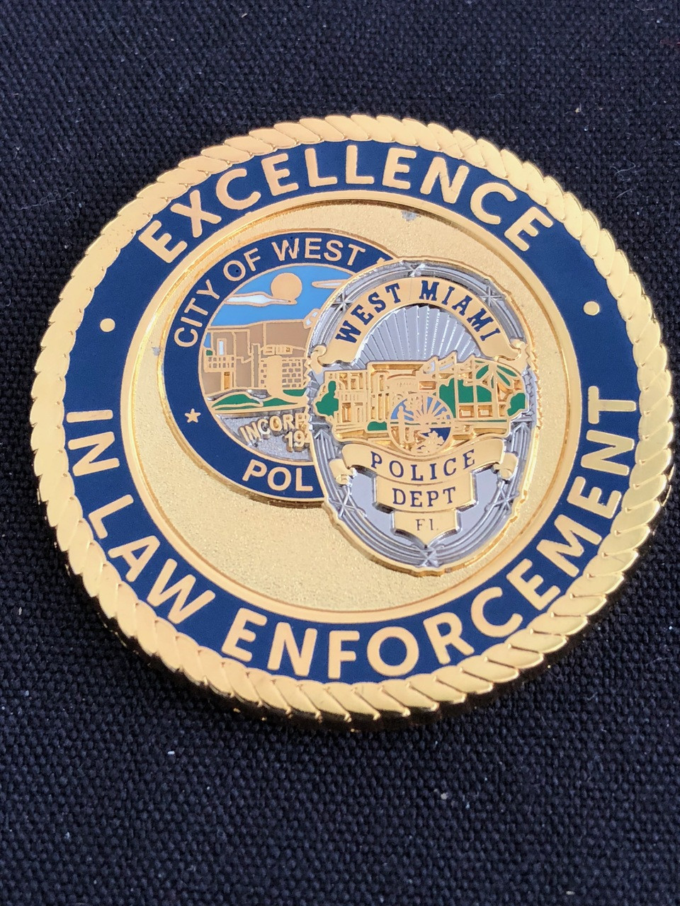 WEST MIAMI POLICE CHALLENGE COIN RARE