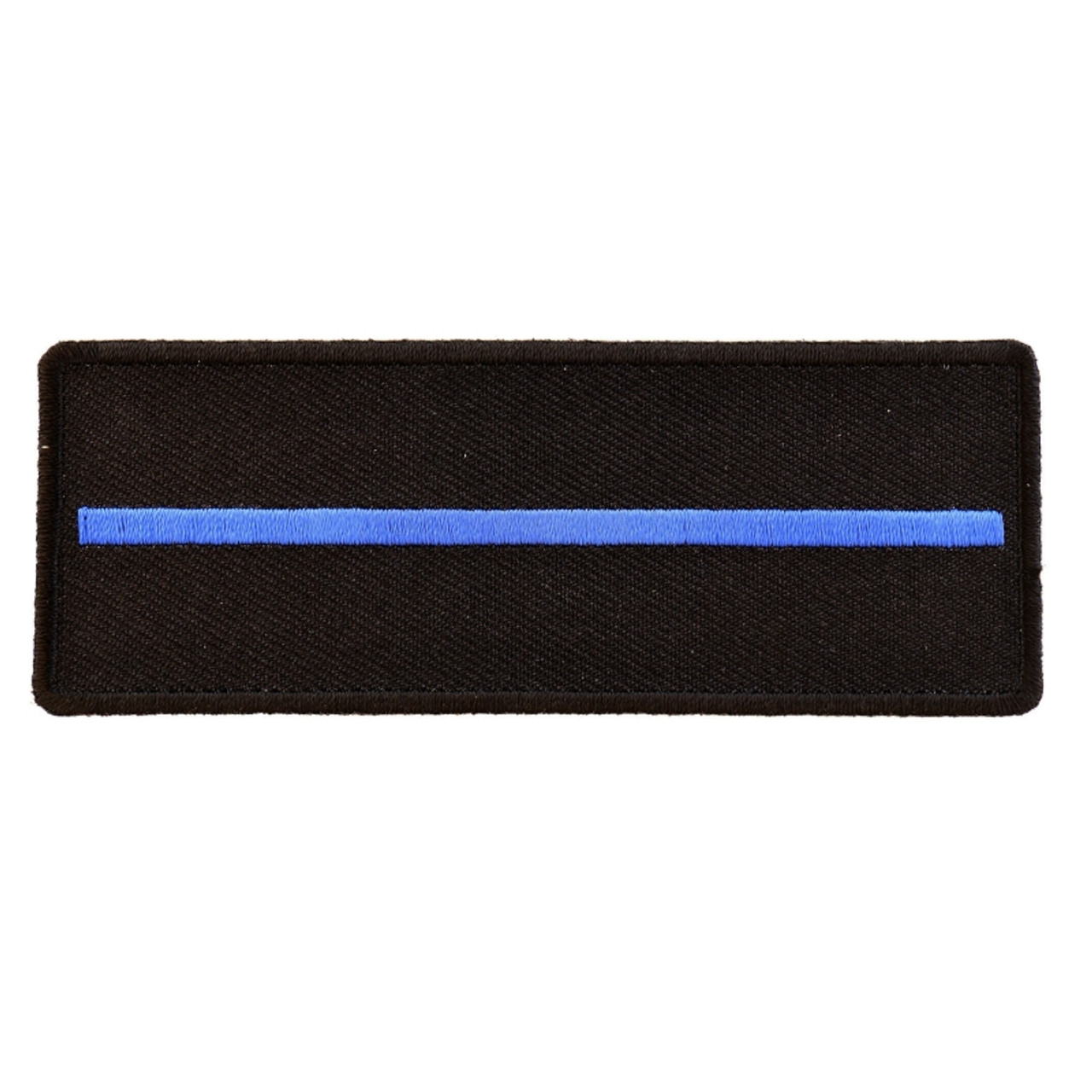 "Thin Blue Line USA Flag Patch Iron On Patch New Police Law enforcement 3.5/""x2/"""