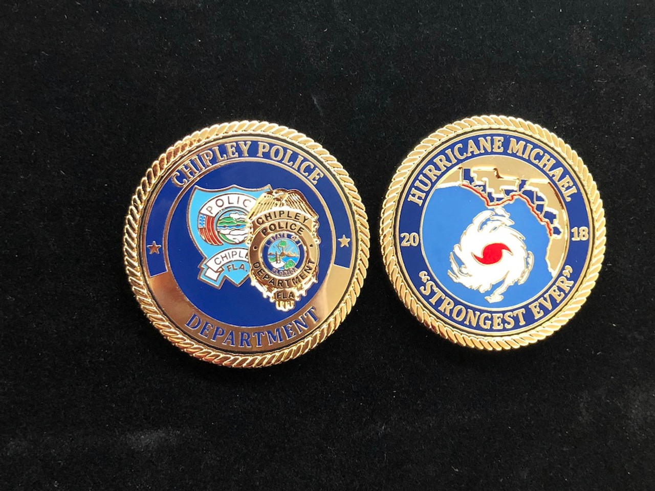 CHIPLEY POLICE  FL HURRICANE MICHAEL COIN RARE FROM FLORIDA LAW ENFORCEMENT