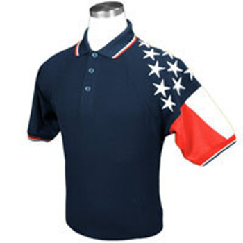 NAVY MEN'S FREEDOM PIQUE POLO