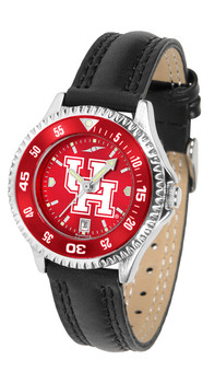 Ladies' Houston Cougars - Competitor AnoChrome - Color Bezel Watch