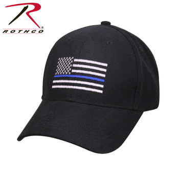 The Thin Blue Line is a symbol of respect and support for Police and Law Enforcement Officials; show your support with the Rothco's Thin Blue Line Flag Patch Hat. The low pro cap features durable brushed cotton twill, hook & loop closure back and inner sweatband.