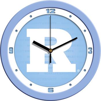 Rutgers Scarlet Knights - Baby Blue Team Wall Clock