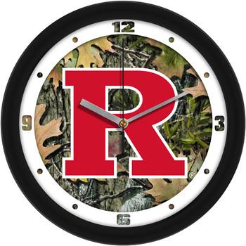 Rutgers Scarlet Knights - Camo Team Wall Clock