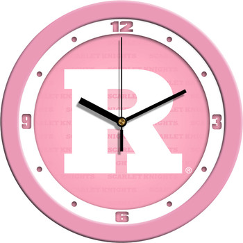 Rutgers Scarlet Knights - Pink Team Wall Clock