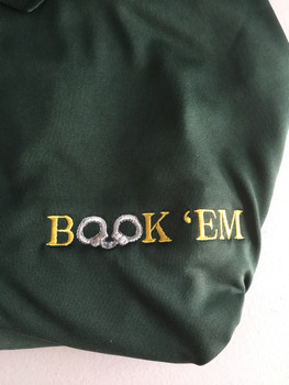 BOOK'EM Law Enforcement Men's Solid Jersey Short Sleeve Polo GREEN