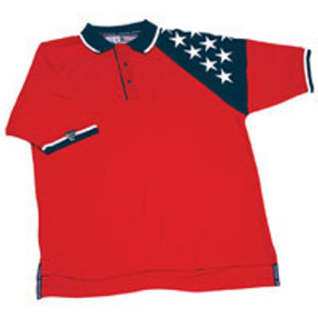 ChiefMart MEN'S RED FREEDOM PIQUE POLO