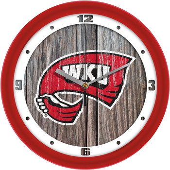 Western Kentucky Hilltoppers - Weathered Wood Team Wall Clock