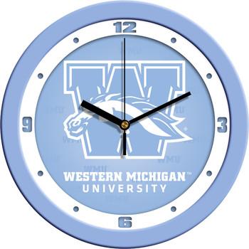 Western Michigan Broncos - Baby Blue Team Wall Clock