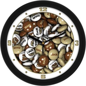Western Michigan Broncos - Candy Team Wall Clock
