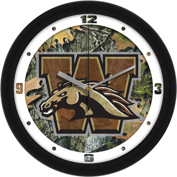 Western Michigan Broncos - Camo Team Wall Clock