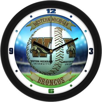 Western Michigan Broncos - Home Run Team Wall Clock