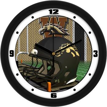 Western Michigan Broncos - Football Helmet Team Wall Clock