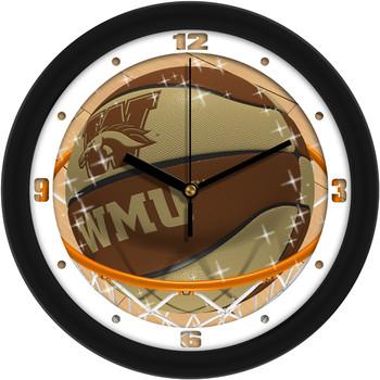 Western Michigan Broncos - Slam Dunk Team Wall Clock